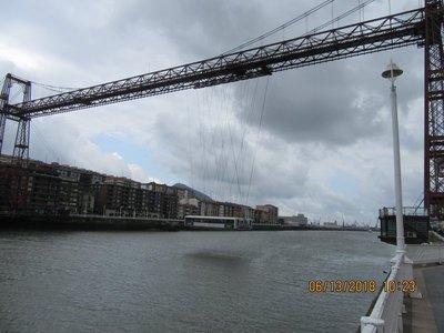 The gondola crossing the river 2