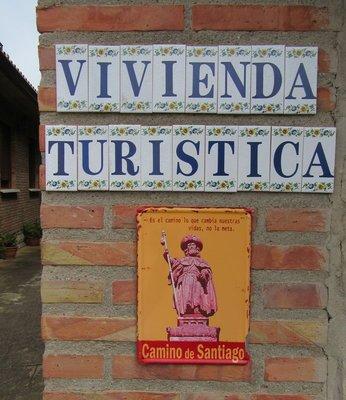 Gate post one - Camino de Santiago