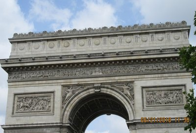 People on the Arc de Triomphe
