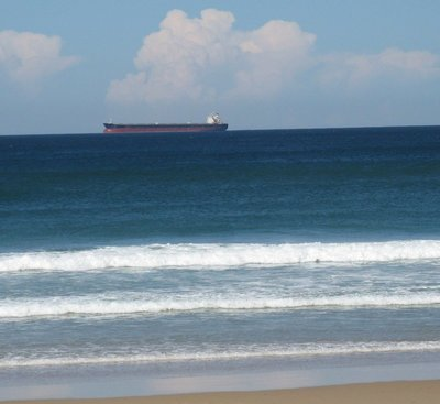 Ship out on the ocean