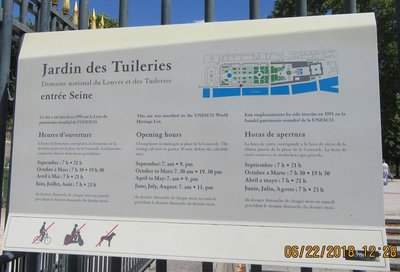Tuileries Garden information