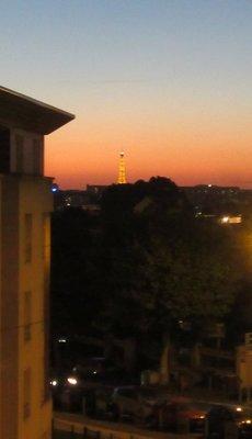 Sunset over Paris June 22, 2018