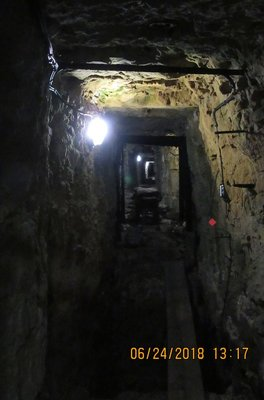What the tunnels look like with the lighting provided today