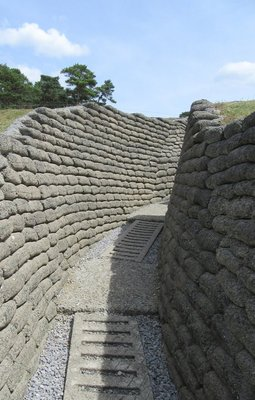 These trench walls are only 1/2 the height of the original ones