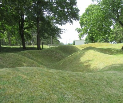 The remains of trenches in the Vimy area