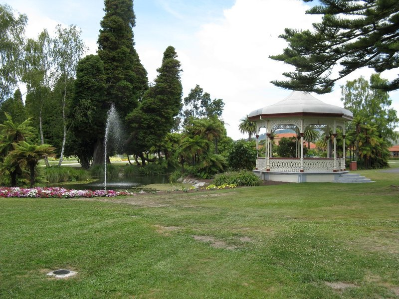 Fountain and Gazebo at Government Gardens