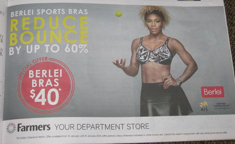 Serena Williams sells sports bras