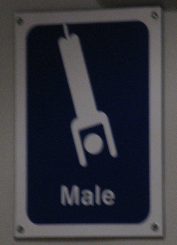 Men's toilet sign