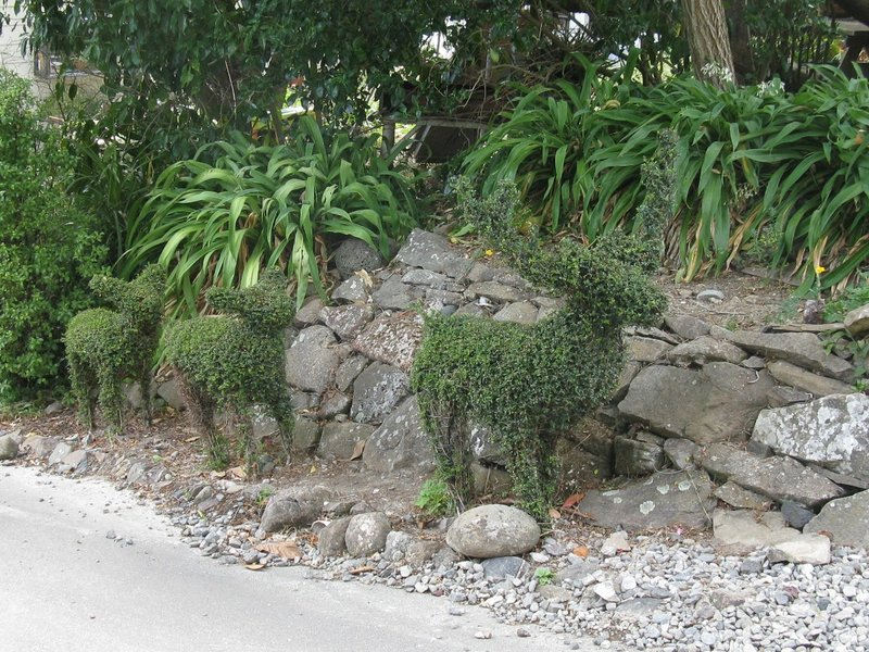 Topiary deer at Giants House