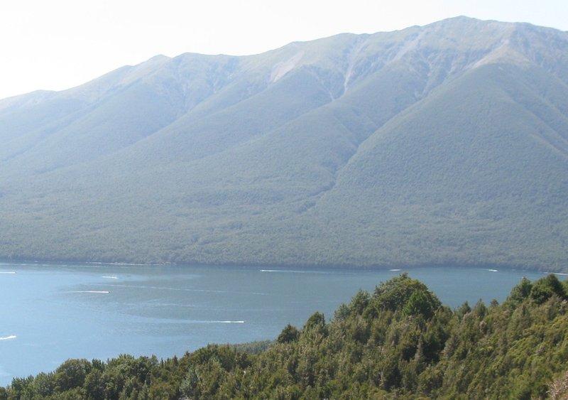 Boats on Lake Rotoiti