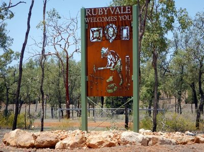Rubyvale sign