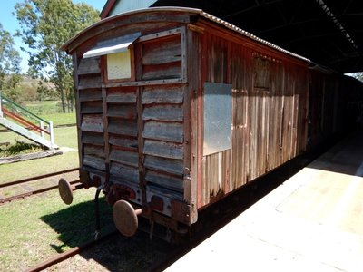 Mt Morgan wooden carriage