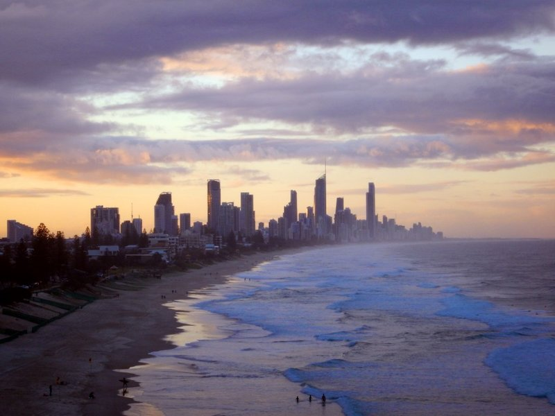 Surfers Paradise sunset from Mick Schamburg Park2