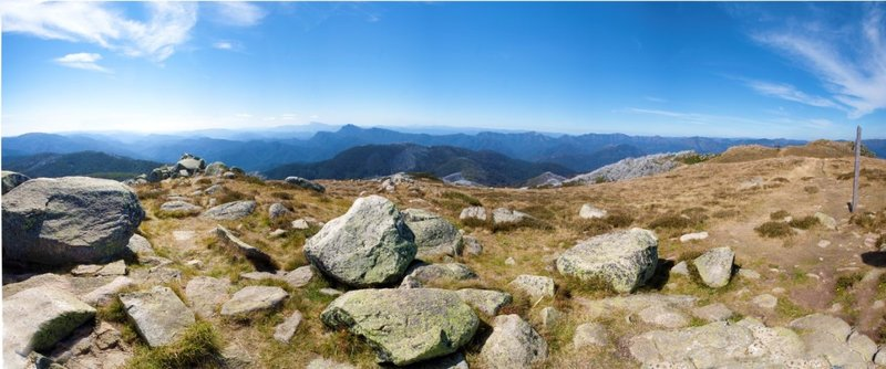 View North from Mt Stirling Summit