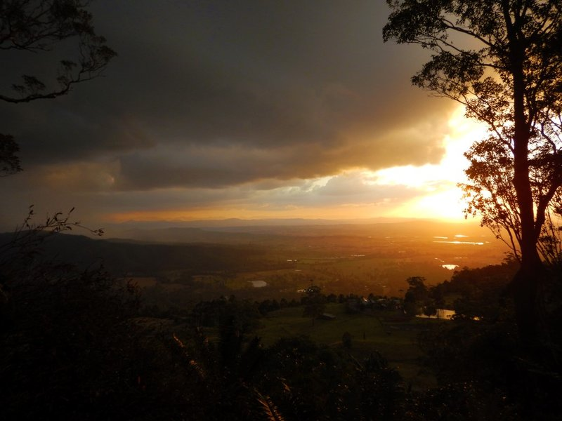 sunset from the house4
