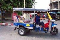 Tuktuk, cheap mode of transportation in Bangkok