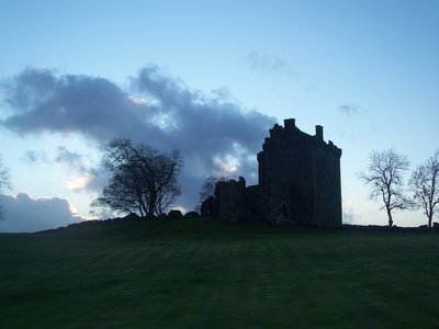 Balvaird Castle  from the east
