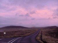 Sunset over Bressay Isle (Shetland)