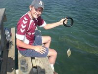 catching monster fish in Belize