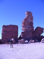 weird massive rocks in the middle of the desert