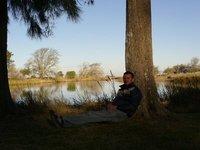 me posing by the lake at santa maura