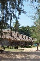 beach huts at bamboo island