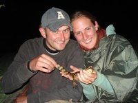 me, jenny and baby alligator