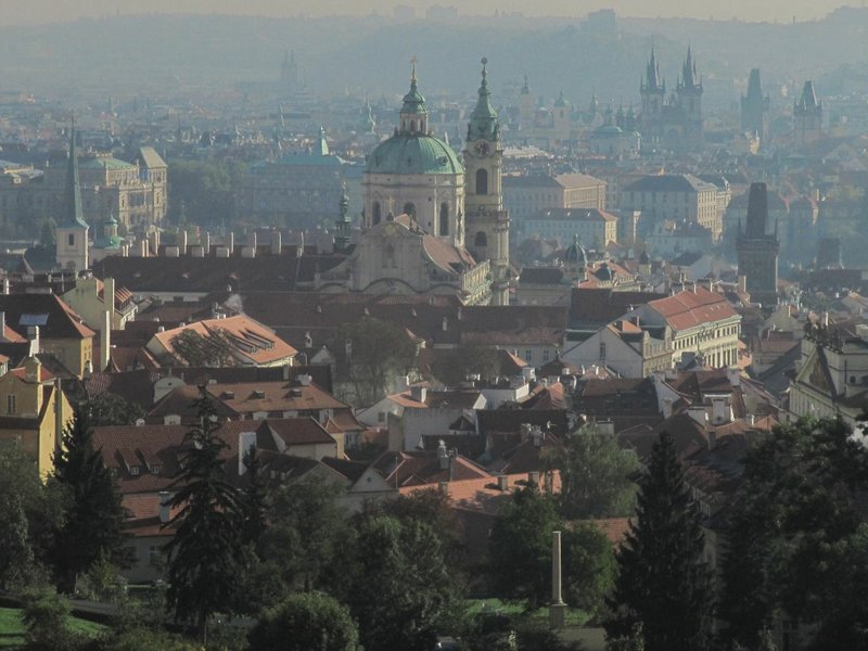 Prague View in the Gathering Mist