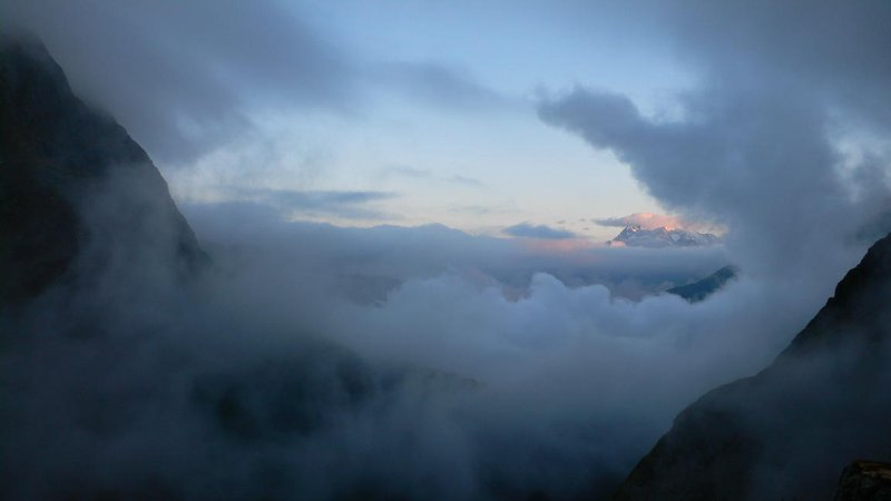 Sunrise - view from the Terrihütte
