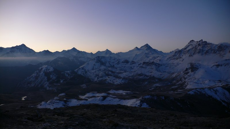 View from the Cabane des Bec de Bosson