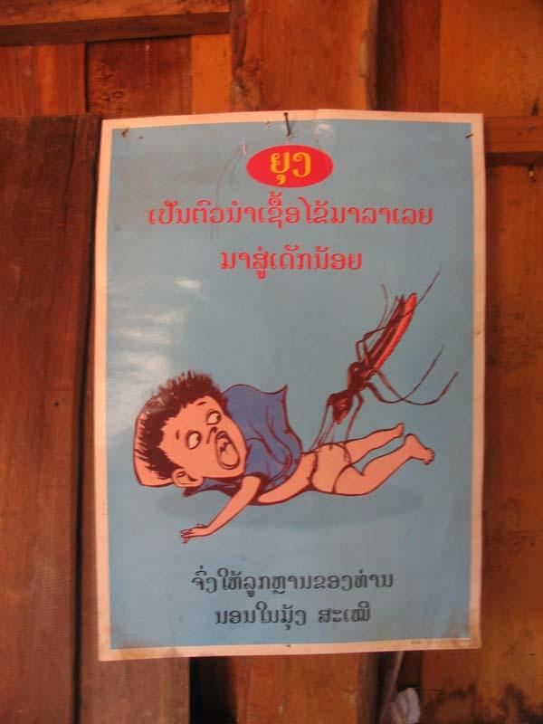 Phonsavan - Mosquito sign