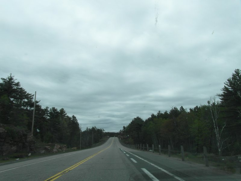 Typical long empty road in NW Ontario