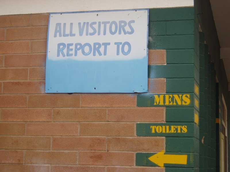 Outback humour in Cook, Nullabor Plain, WA (stop on train journey)