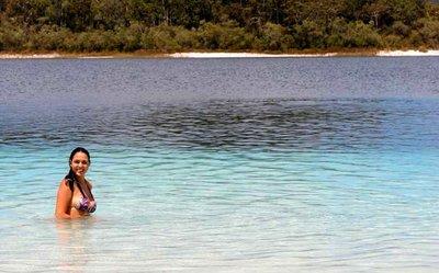 Beautiful Freshwater Lake on Frasier Island