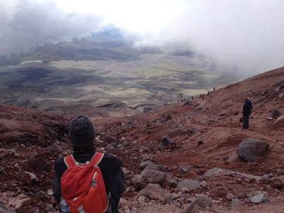 The view from the Cotopaxi vulcan
