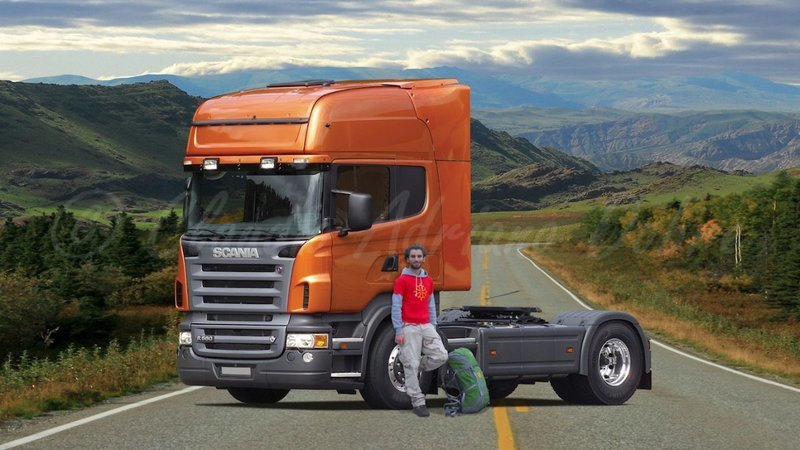 Riding the majestic Scania R