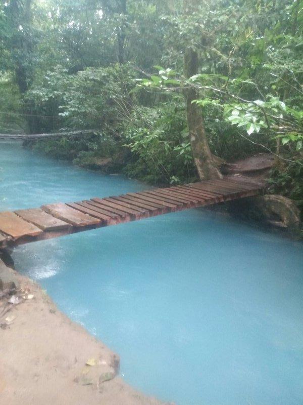 Bridge near Rio Celeste