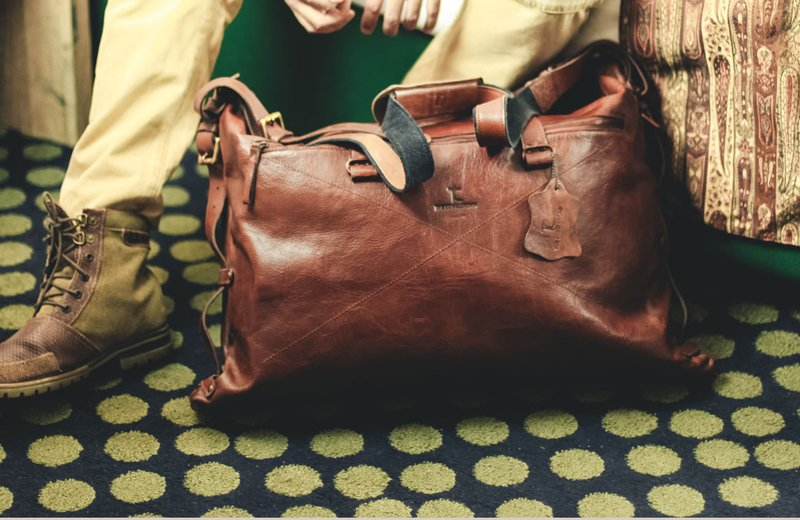 Double Take Weekend Leather Bag (8)