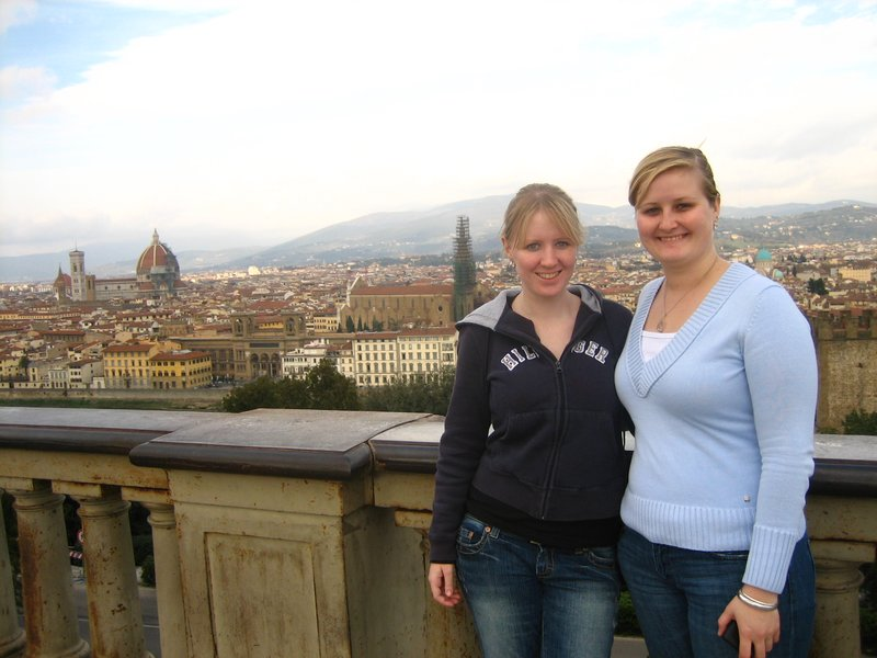 Katie and Kylie in Florence, Italy