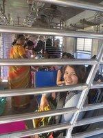 Train compartiment femme à Mumbai