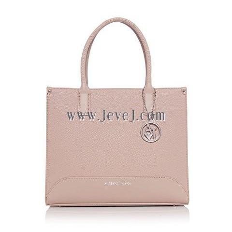 jevejcom Armani Jeans Pebble Effect Shopper Bag Pink One Size
