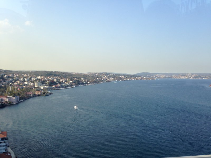 Crossing the Bosphorus into Istanbul