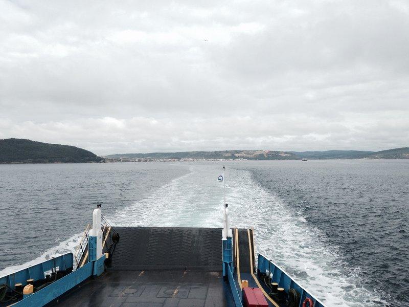 On the ferry from Eceabat to Çanakkale