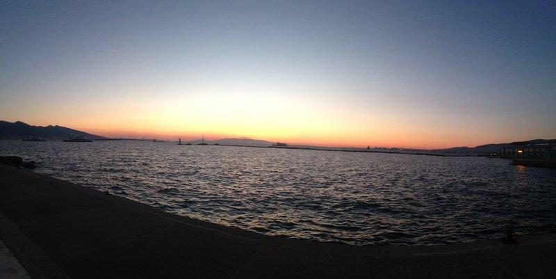 Sun setting in Izmir