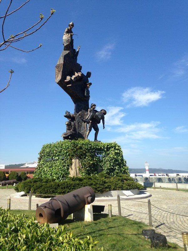 Gallipoli Memorial on the waterfront at Eceabat