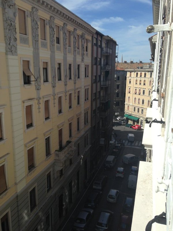 The view from our room in Trieste