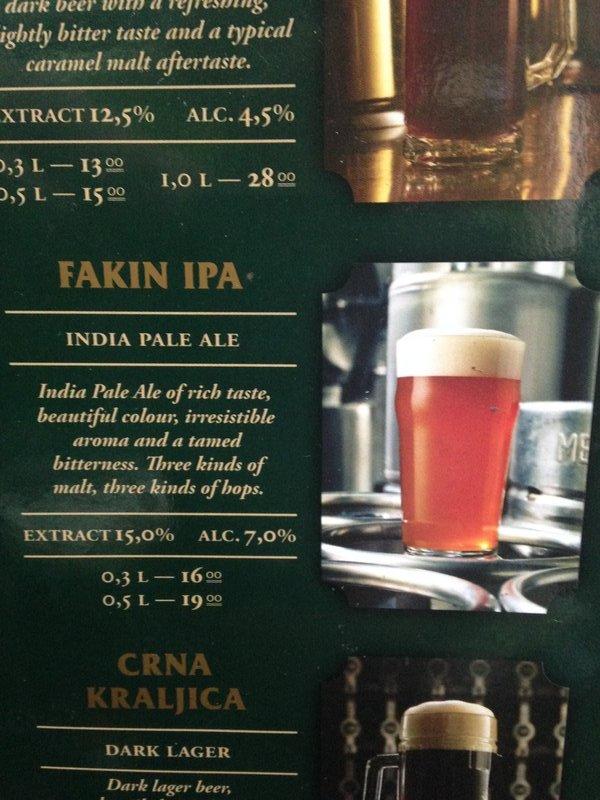 A Fakin good IPA in Zagreb