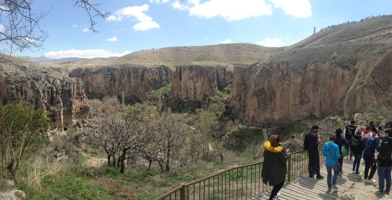 Walking down into the Ihlara Vadisi