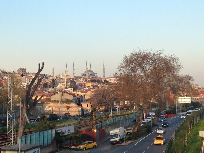 Images from an evening walk from our hotel - The Blue Mosque