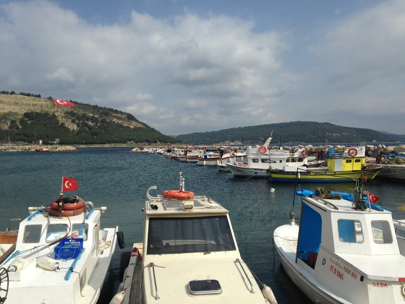 The harbour at Eceabat